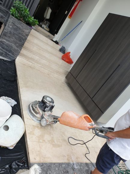 Marble Floor Polishing at Foyer
